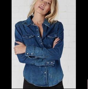 One Teaspoon Savannah Distressed Denim Jean Shirt